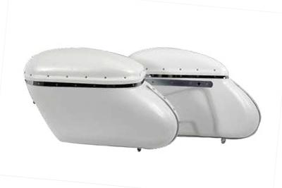 Replica Bubble Saddlebag Set White