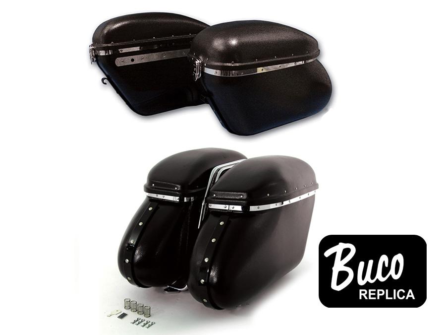 Black Magic Royalite Saddlebag Set