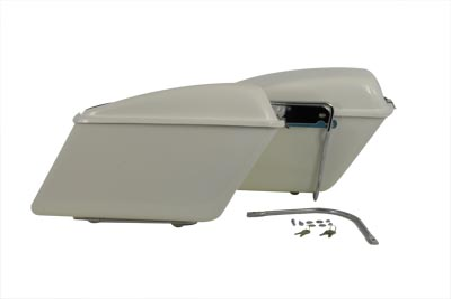 Fiberglass White Saddlebag Set