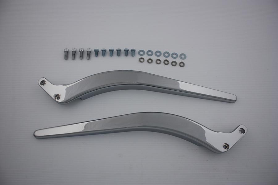 Curved Fender Strut Set Chrome