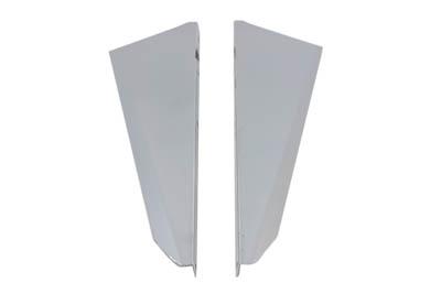 Chrome Windshield Deflector Set
