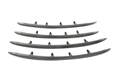 Rear Fender Top Stainless Steel Trim Set