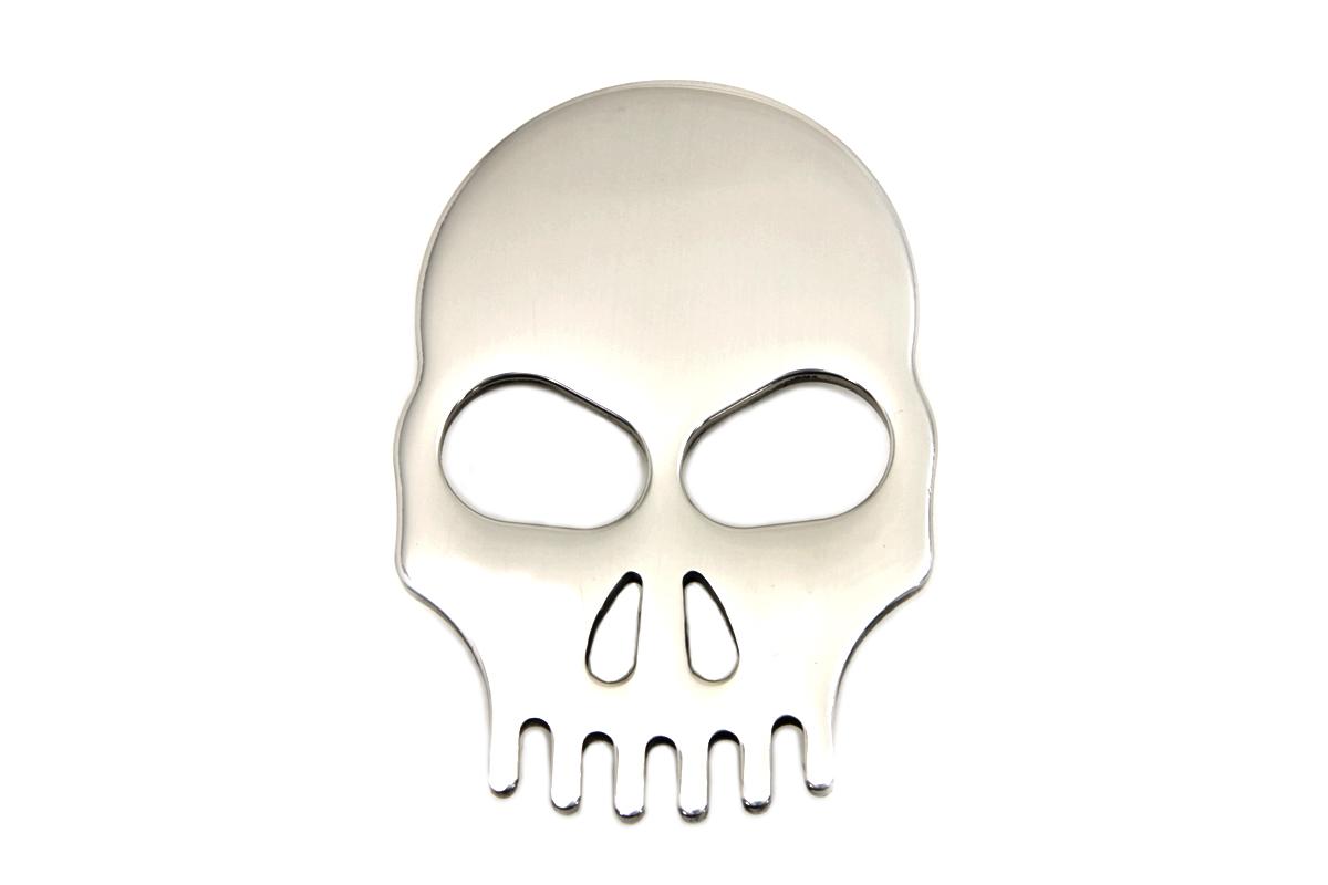 Stainless Steel Fender Medallion with Skull