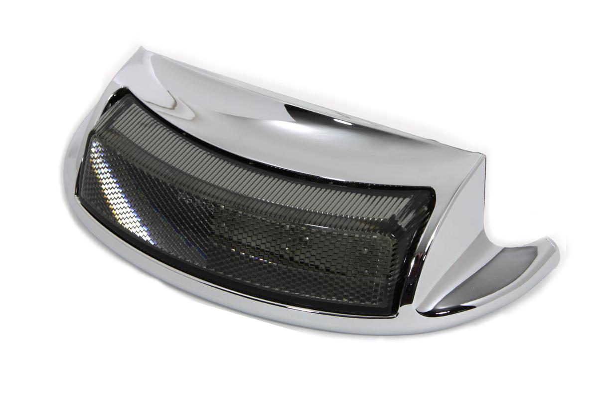 Chrome LED Rear Fender Tip with Smoke Lens