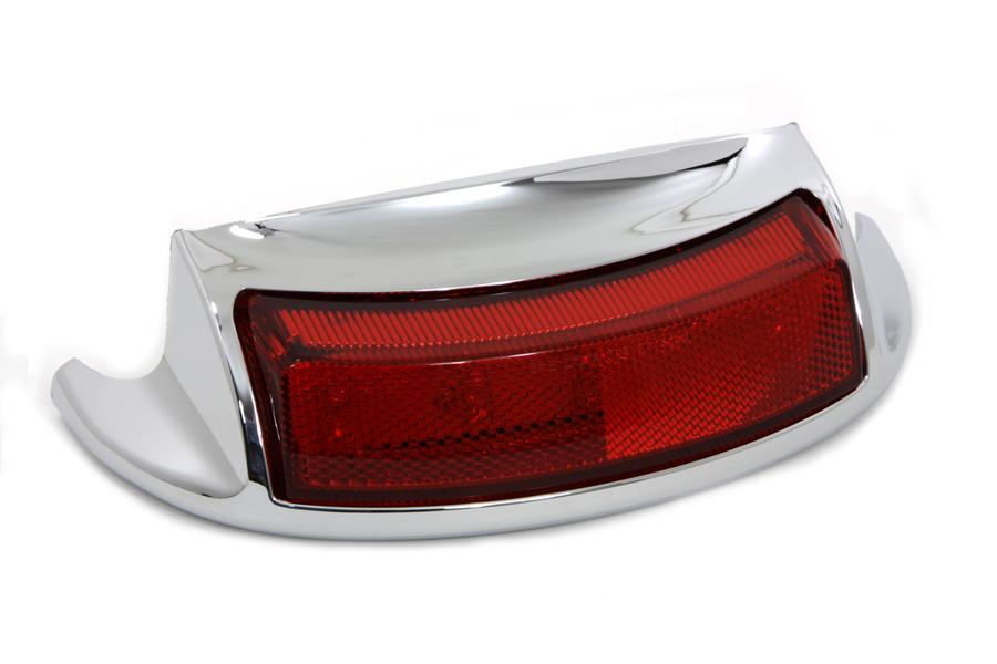 Chrome LED Rear Fender Tip with Red Lens