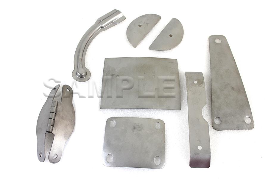 Rigid Rear Fender Hinge/Plate Kit Raw Steel