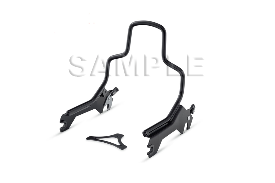"8-1/2"" Short Detachable Sissy Bar Gloss Black"