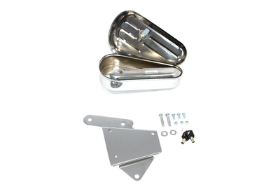 *UPDATE Oval Tool Box and Mount Kit Left Side Chrome