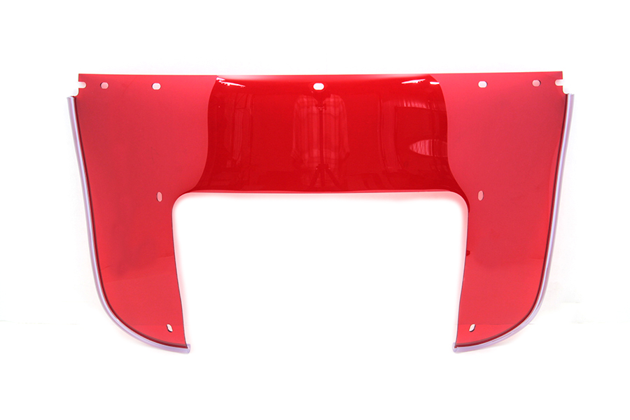 Beaded Lower Windshield Red