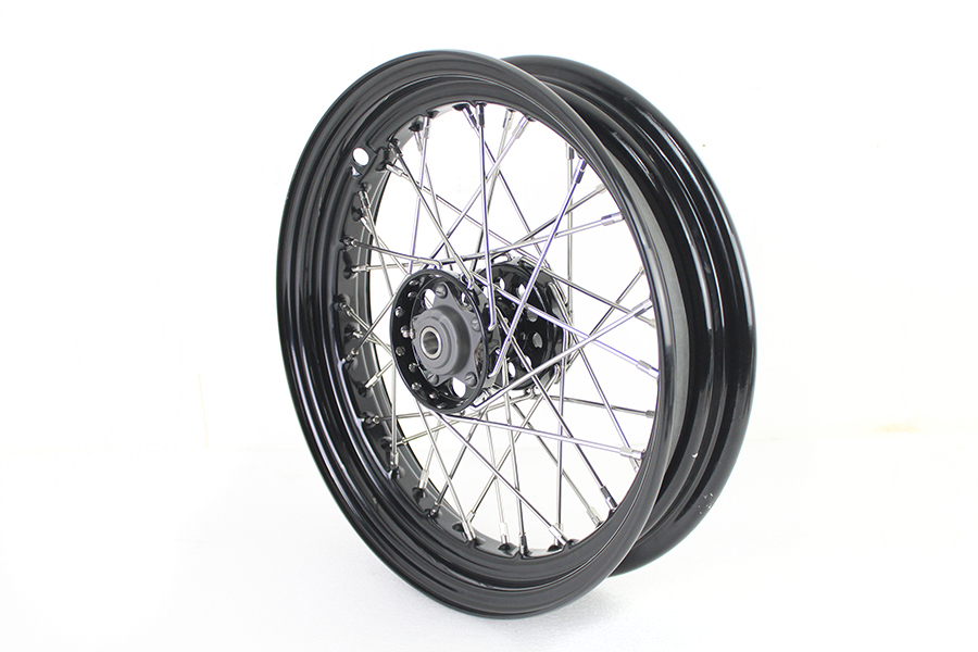 "16"" F-H Style Star Hub Wheel Black"