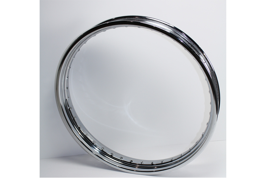 "21"" x 2.15"" Rolled Edge Rim Chrome"
