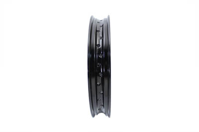 "18"" x 2.15"" Rolled Edge Rim Black"