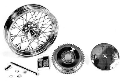 "16"" Wheel and Brake Drum Assembly Chrome"