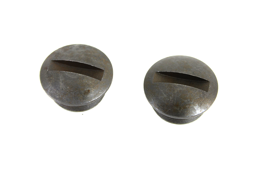 Parkerized Spring Handlebar End Nut Set