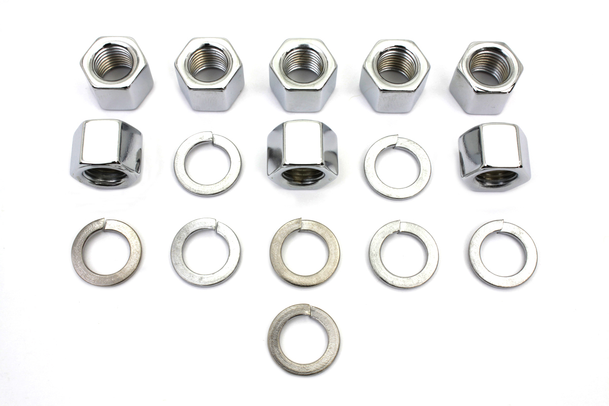 Chrome Cylinder Base Nuts and Washers