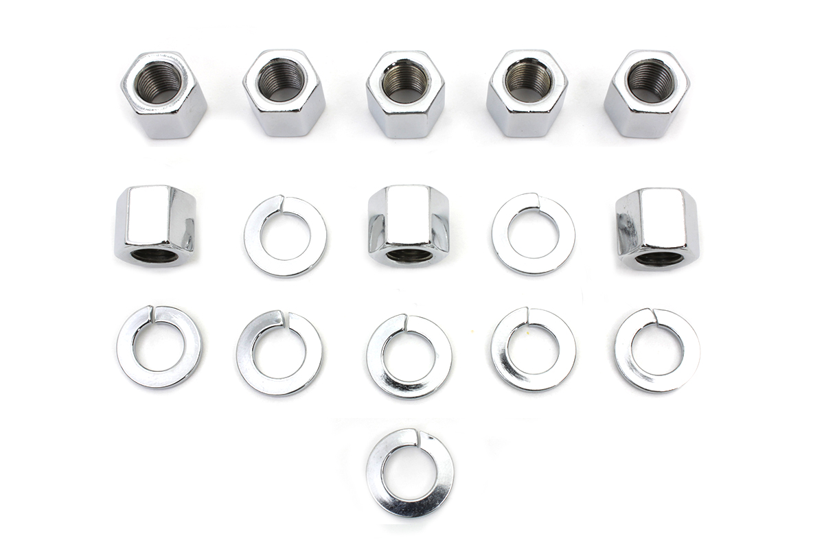 Chrome Stock Cylinder Base Nuts and Washers