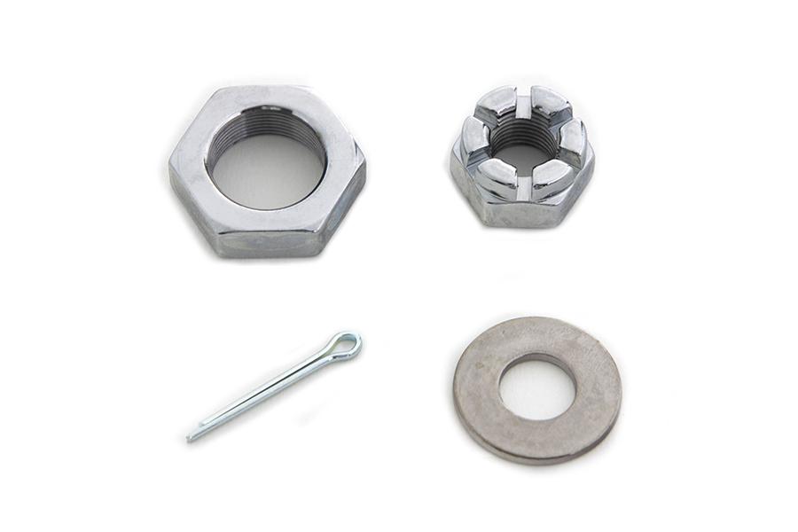 Chrome Front Axle Nut Kit