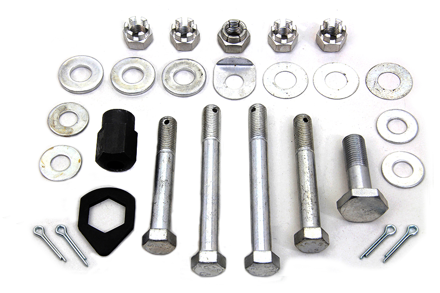 Cadmium Upper and Lower Motor Mount Bolt Kit