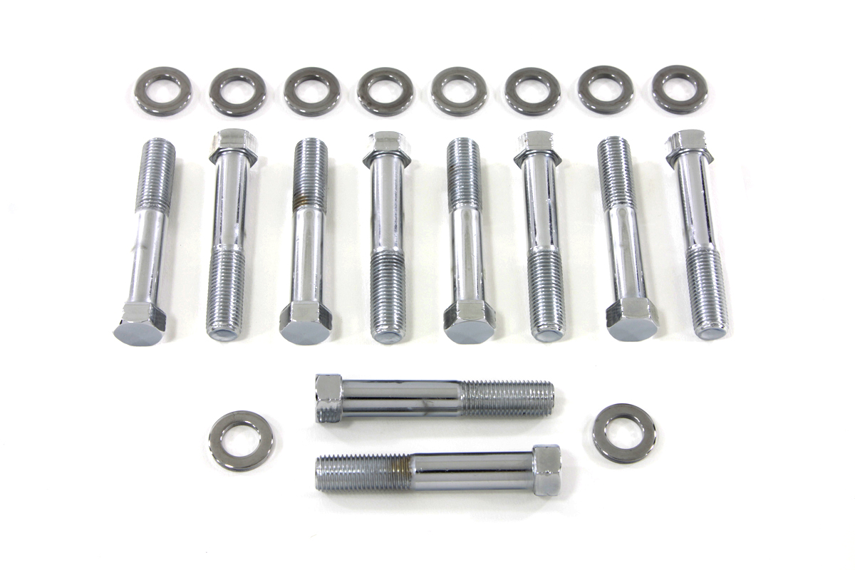 Chrome Stock Head Bolt with Washer