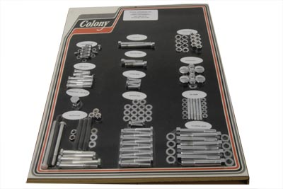 Stock-Style-Hardware-Kit-Chrome-fits-Harley-Davidson-V-Twin-8316-CHR