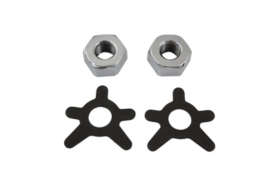 Brake Shaft Nut and Lock Kit Chrome