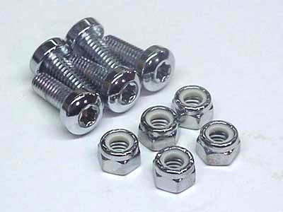 Chrome Front Brake Disc Bolt Set