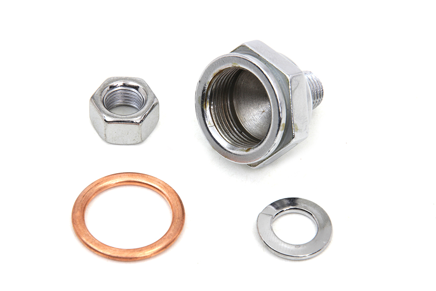 Linkert Carburetor Bowl Chrome Lock Nut