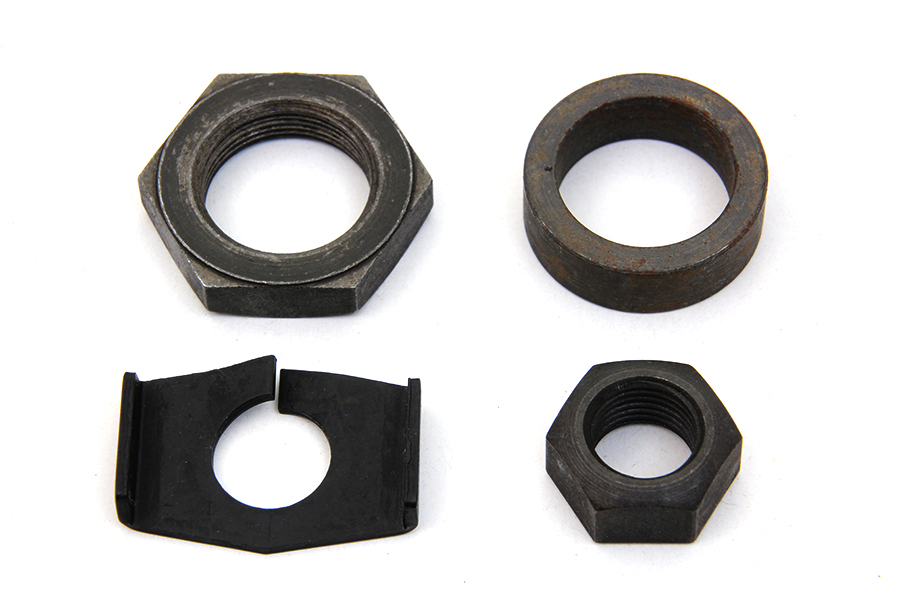 Rear Axle Nut and Lock Kit Parkerized