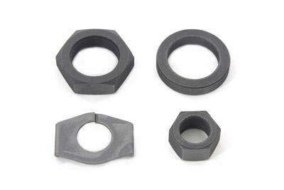 Parkerized Rear Axle Nut and Lock Kit