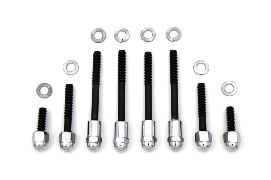 Oil Pump Mount Kit Acorn Type Chrome