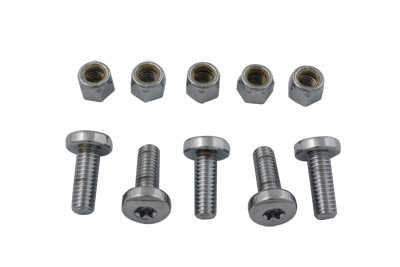 Rear Disc Bolt and Nut Kit Chrome