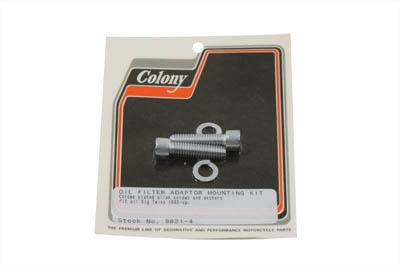 Oil Filter Adapter Mount Kit Chrome