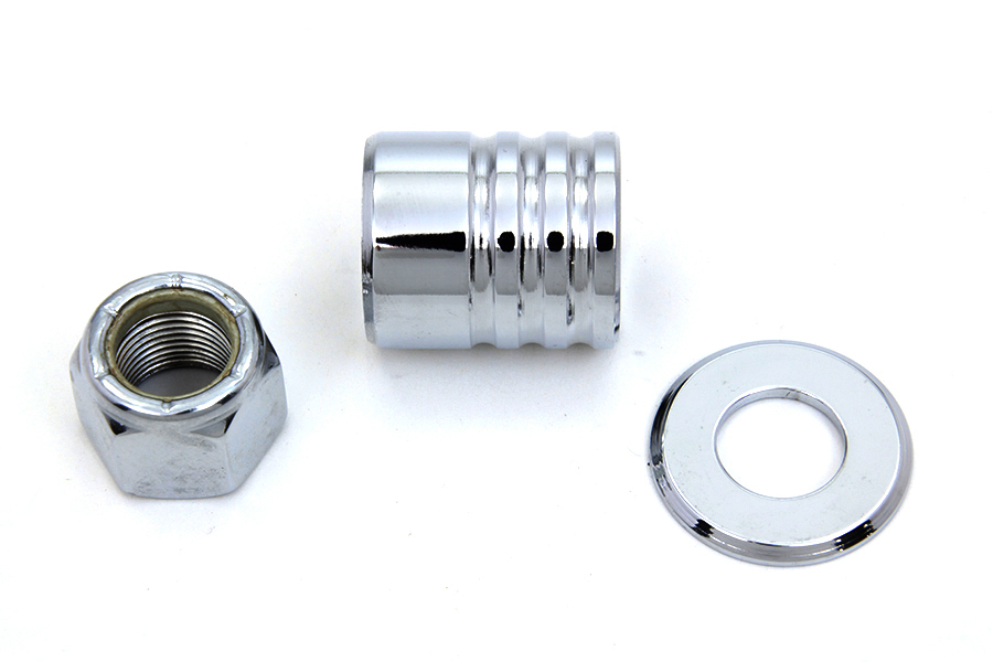 Front Axle Spacer Kit Groove Style Chrome