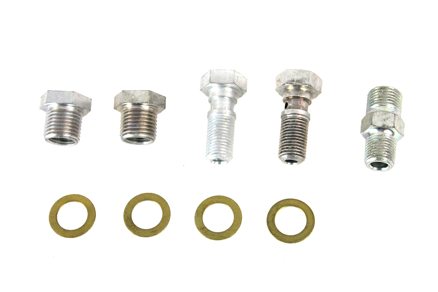Oil Line Fitting Kit Cadmium