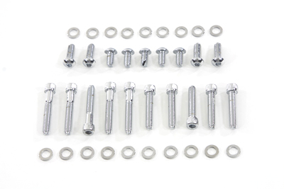 *UPDATE Primary Cover Screw Kit Knurled Chrome